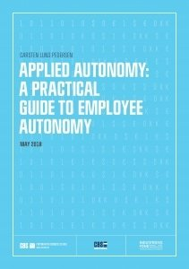 Applied autonomy: a practical guide to employee autonomy. Billede af rapporten