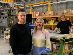 Trine og Ib - ejere af Glaspartner